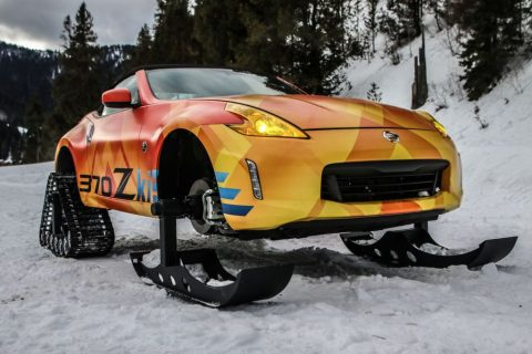 The Nissan 370Zki - no business like snow business!