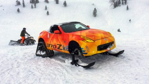 Video: Nissan 370Zki hits the snow!