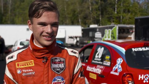 Video: Autistic driver Riley shines in Micra Cup