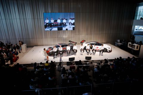 Nissan's Super GT stars meet the fans at Global HQ in Yokohama at the annual motorsport announcement.