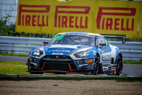 Victory and podium for Nissan in Blancpain Asia