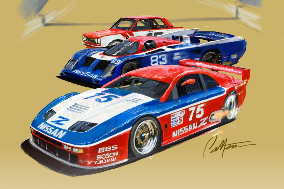 Storied heritage meets Nissan Intelligent Mobility future at Rolex Monterey Motorsports Reunion