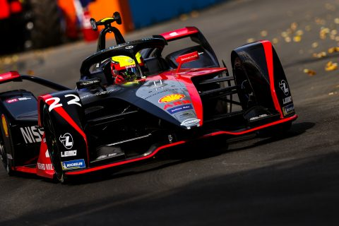 | Driver: Oliver Rowland| Team: Nissan e.dams| Number: 22| Car: IM02|| Photographer: Shivraj Gohil| Event: Santiago E-Prix| Circuit: Parque O'Higgins| Location: Santiago| Series: FIA Formula E| Season: 2019-2020| Country: Chile|