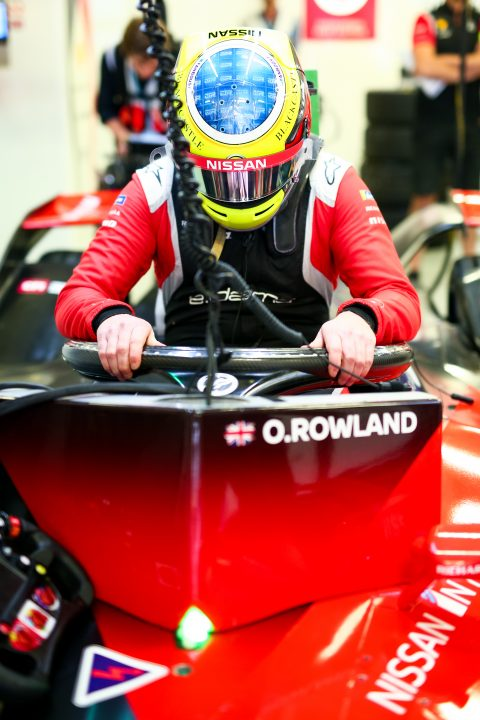 | Driver: Oliver Rowland| Team: Nissan e.dams| Number: 22| Car: IM02|| Photographer: Shivraj Gohil| Event: Mexico City E-Prix| Circuit: Autodromo Hermanos Rodriguez| Location: Mexico City| Series: FIA Formula E| Season: 2019-2020| Country: Mexico|