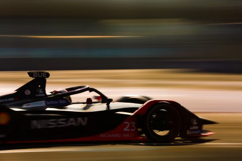 | Driver: Sebastien Buemi| Team: Nissan e.dams| Number: 23| Car: IM02| | Photographer: Shivraj Gohil| Event: Mexico City E-Prix| Circuit: Autodromo Hermanos Rodriguez| Location: Mexico City| Series: FIA Formula E| Season: 2019-2020| Country: Mexico|| Session: FP2|