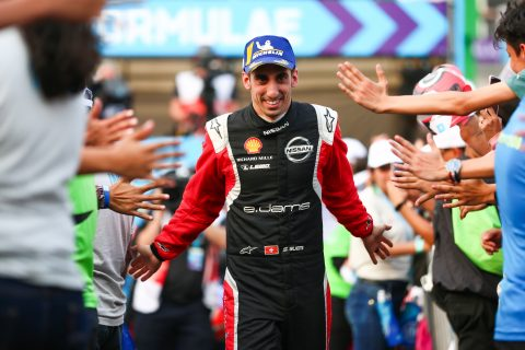 | Driver: Sebastien Buemi| Team: Nissan e.dams| Number: 23| Car: IM02| | Photographer: Shivraj Gohil| Event: Mexico City E-Prix| Circuit: Autodromo Hermanos Rodriguez| Location: Mexico City| Series: FIA Formula E| Season: 2019-2020| Country: Mexico|| Session: Race|