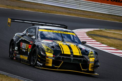 Super GT action from Autopolis in Japan for the Nissan GT-R NISMO GT500 and GT300 squads