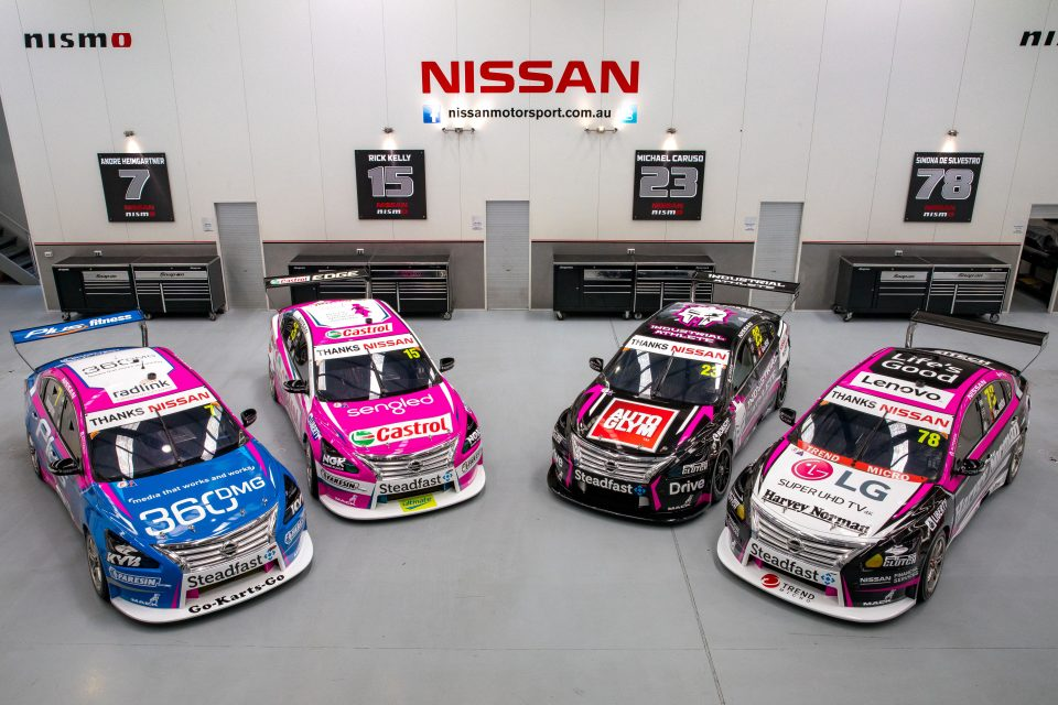 Nissan Supercars team supports Breast Cancer Network Australia in season finale