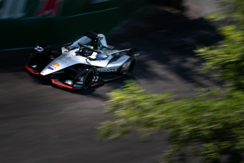 The Nissan e.dams team in action at the Santiago e-Prix shakedown in Chile.