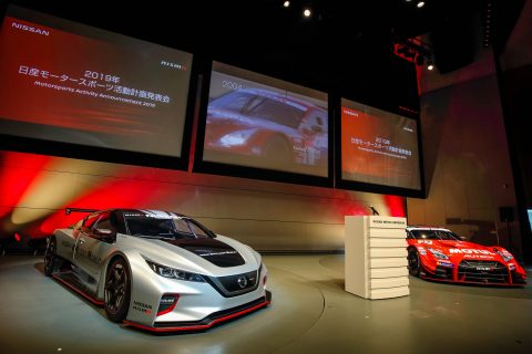 Nissan showcased the Formula E and Super GT programs at the 2019 launch of its motorsport programs in Japan