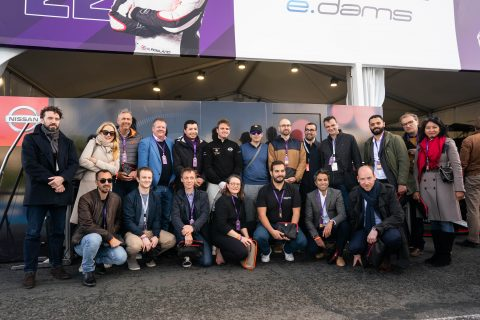 Pit lane tours with Nissan e.dams at ABB FIA Formula E Paris E-Prix.