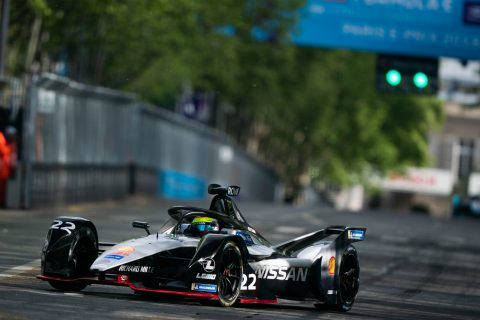 Practice and qualifying action from Nissan e.dams at ABB FIA Formula E Paris E-Prix.