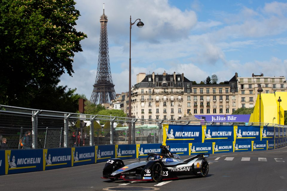 Nissan e.dams scores first front-row lockout in Paris