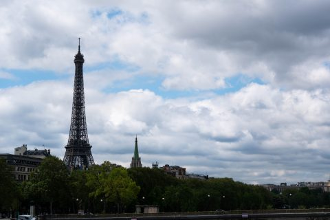 Spectacular views from the race track for the Paris E-Prix
