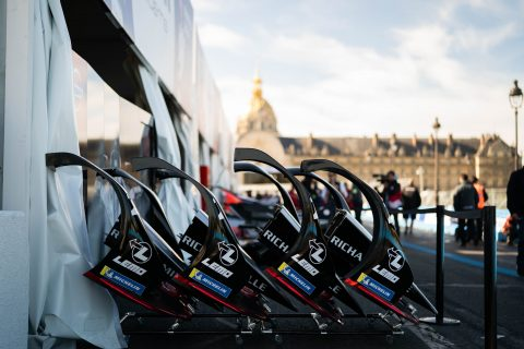 NIssan e.dams prepare for this wreekend's Paris E-Prix in France.