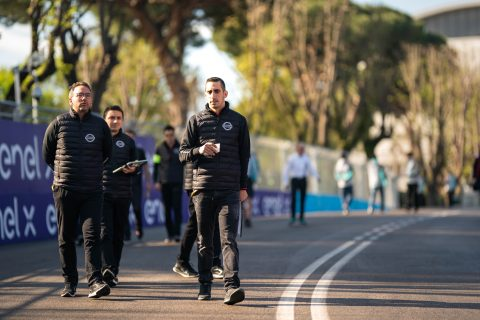 Friday preparations for the Nissan e.dams team for the Rome E-Prix includes the track walk and official press conference.