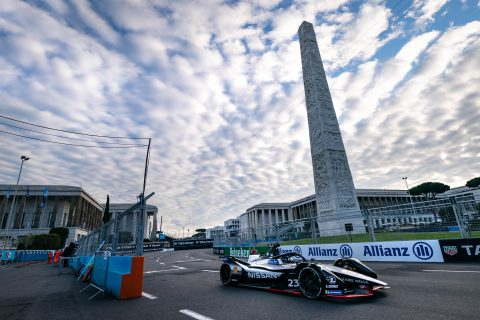 Nissan e.dams Formula E team prepare for the Rome E-Prix with practice and qualifying today in Italy.