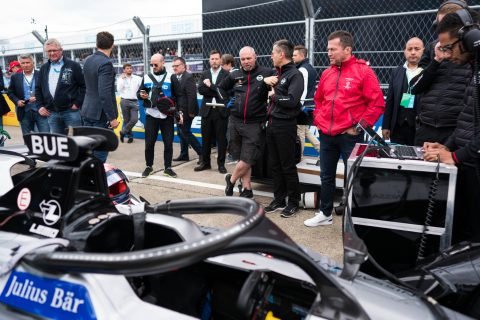 On the grid with the Nissan e.dams team at the 2019 #BerlinEPrix.