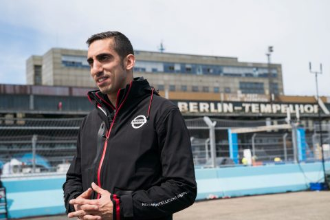 The Nissan e.dams drivers Sebastien Buemi and Oliver Rowland prepare to compete at this weekend's Formula E race in Germany in Berlin.