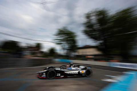Nissan e.dams drivers Sebastien Buemi and Oliver Rowland in action in practice and qualifying at the #SwissEPrix in Bern.