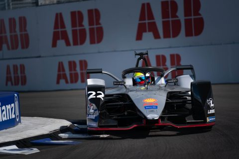 Nissan e.dams drivers Sebastien Buemi and Oliver Rowland hit the track for the shakedown at the #NYCEPrix.