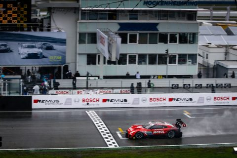 Action from the Thailand round of the 2019 Super GT Championship for Nissan in Okayama.