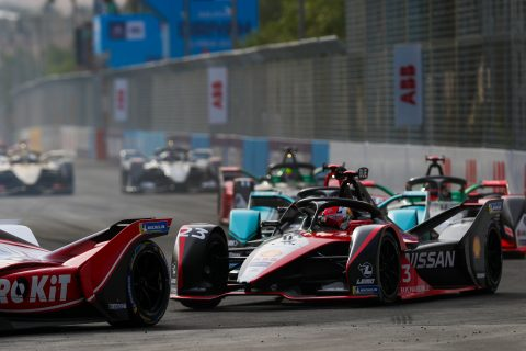 | Driver: Sebastien Buemi| Team: Nissan e.dams| Number: 23| Car: IM02| | Photographer: Shivraj Gohil| Event: Ad Diriyah E-Prix| Circuit: Ad Diriyah Circuit| Location: Riyadh| Series: FIA Formula E| Season: 2019-2020| Country: SA|| Session: Race|