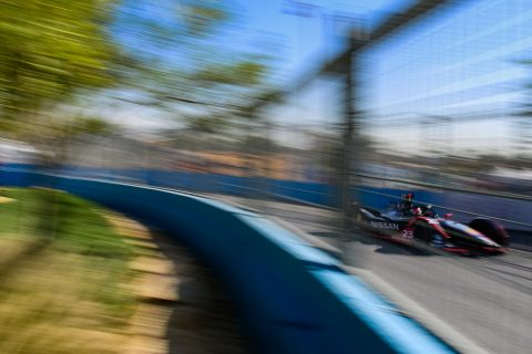 | Driver: Sebastien Buemi| Team: Nissan e.dams| Number: 23| Car: IM02| |Photographer: Lou Johnson| Event: Ad Diriyah E-Prix| Circuit: Ad Diriyah Circuit| Location: Riyadh| Series: FIA Formula E| Season: 2019-2020| Country: SA|| Session: FP2|