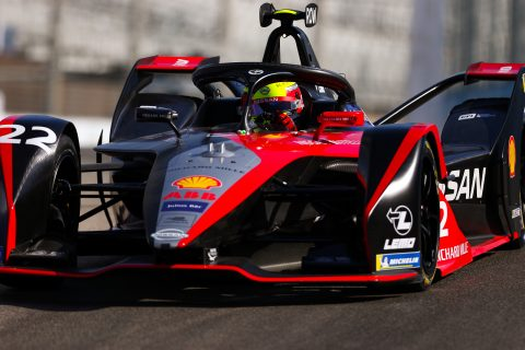 | Driver: Oliver Rowland| Team: Nissan e.dams| Number: 22| Car: IM02|| Photographer: Shivraj Gohil| Event: Ad Diriyah E-Prix| Circuit: Ad Diriyah Circuit| Location: Riyadh| Series: FIA Formula E| Season: 2019-2020| Country: SA|| Session: FP2|