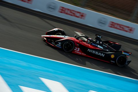 | Driver: Sebastien Buemi| Team: Nissan e.dams| Number: 23| Car: IM02| | Photographer: Peter Minnig|  Event: Marrakesh E-Prix| Circuit: Circuit International Automobile Mouley el Hassan| Location: Marrakesh| Series: FIA Formula E| Season: 2019-2020| Country: Morocco| Keyword: Season 6| Keyword: Season Six| Keyword: S6| Keyword: electric racing| Keyword: motorsport| Keyword: openwheel| Keyword: singleseater|