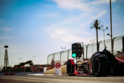 | Driver: Mitsunori Takaboshi| Team: Nissan e.dams| Car: IM02|| Photographer: Shivraj Gohil| Event: Marrakesh E-Prix| Circuit: Circuit International Automobile Mouley el Hassan| Location: Marrakesh| Series: FIA Formula E| Season: 2019-2020| Country: Morocco|| Session: Test|