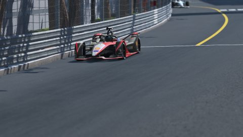 Nissan e.dams competes in the ABB Formula E  Race at Home Challenge first test session