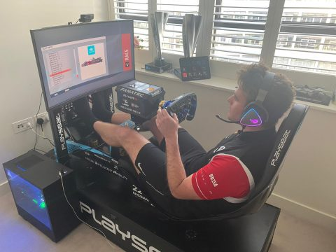 The Nissan e.dams team scored a solid top ten finish in today's  ABB Formula E Race at Home Challenge esports test session at the Formula E Monaco street circuit.