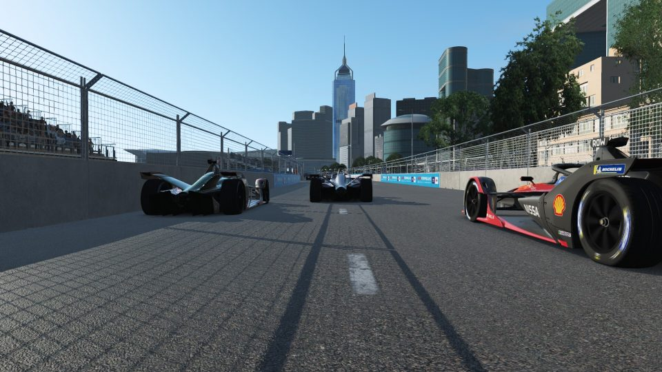 Nissan e.dams take double top 10 finish in virtual  Formula E Hong Kong race