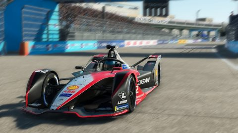 | Driver: Oliver Rowland| Team: Nissan e.dams| Number: 22| Car: IM02|| Photographer: Lou Johnson| Event: Race at Home Challenge Round 5: Berlin | Circuit: Tempelhof airport| Location: Berlin| Series: ABB Formula E| Season: 2020| Country: Germany|