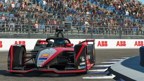 | Driver: Oliver Rowland| Team: Nissan e.dams| Number: 22| Car: IM02|| Photographer: Lou Johnson| Event: Race at Home Challenge Round 8: Berlin | Circuit: Tempelhof airport| Location: Berlin| Series: ABB Formula E| Season: 2020| Country: Germany|