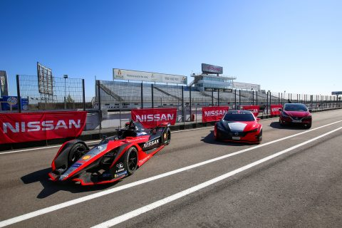 | Photographer: Shivraj Gohil| Event: Nissan Rowland & Hazard Shoot| Circuit: Circuito del Jarama| Location: Madrid| Series: FIA Formula E| Season: 2020| Country: Spain|| Team: Nissan e.dams| Car: IM02|