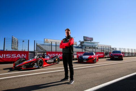 | Photographer: Shivraj Gohil| Event: Nissan Rowland & Hazard Shoot| Circuit: Circuito del Jarama| Location: Madrid| Series: FIA Formula E| Season: 2020| Country: Spain|| Driver: Oliver Rowland| Team: Nissan e.dams| Number: 22| Car: IM02|| Team: Nissan e.dams| Car: IM02|