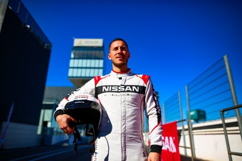 | Driver: Eden Hazard| Team: Nissan e.dams| Photographer: Shivraj Gohil| Event: Nissan Rowland & Hazard Shoot| Circuit: Circuito del Jarama| Location: Madrid| Series: FIA Formula E| Season: 2020| Country: Spain|| Team: Nissan e.dams| Car: IM02|