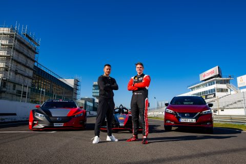 Football ace Eden Hazard experiences the power of Nissan EVs