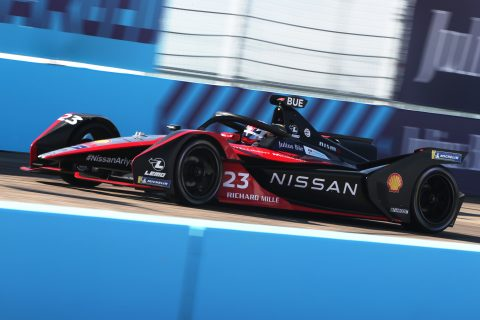 BERLIN TEMPELHOF AIRPORT, GERMANY - AUGUST 05: Sébastien Buemi (CHE), Nissan e.Dams, Nissan IMO2 during the Berlin ePrix I at Berlin Tempelhof Airport on Wednesday August 05, 2020 in Berlin, Germany. (Photo by Alastair Staley / LAT Images)