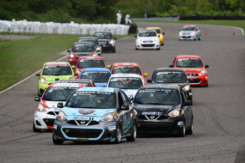 Kevin King wins both Nissan Micra Cup races at Calabogie Motorsports Park